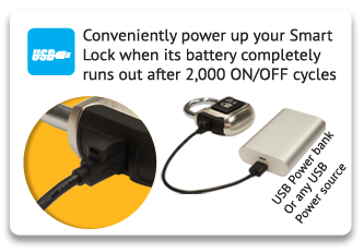 Padlock USB power up