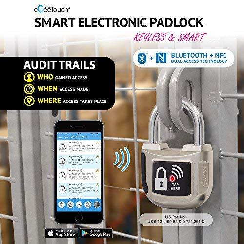 Bluetooth + NFC Smart Padlock 33mm - eGeeTouch Innovative
